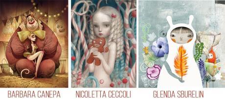 Barbara Canepa / Nicoletta Ceccoli / Glenda Sburelin - Tre illustratrici in giro per il mondo