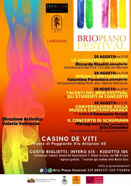 Brio Piano Festival - I edizione diretto da Valeria Vetruccio