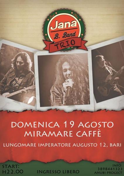 Jana B.Band trio live @Miramare Caffè