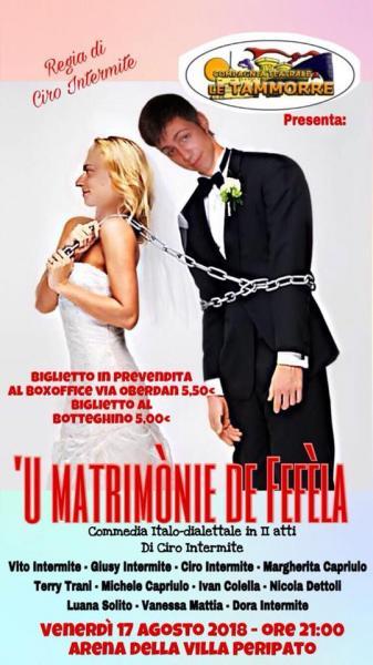 """""""U MATRIMONIE DI FEFELA"""" Rassegna estiva Villa Peripato"""