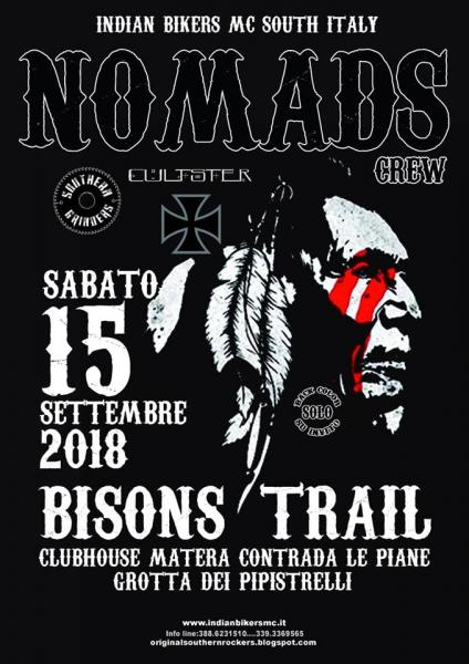 "Motoraduno ""BISONS TRAIL"" INDIAN BIKERS MC NOMADS"