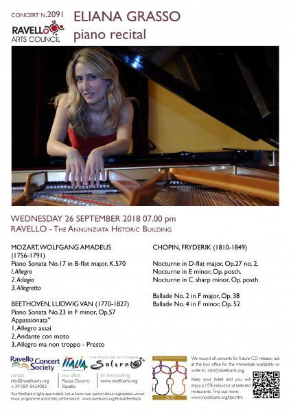 ELIANA GRASSO piano recital