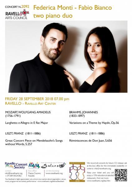 FEDERICA MONTI - FABIO BIANCO two-piano duo