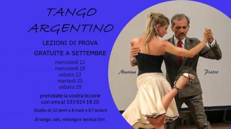 Corsi di Tango Argentino - Vals - Milonga - Tecnica m/f