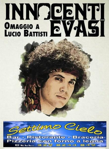 """Serata live con """"Innocenti Evasi"""" omaggio a Lucio Battisti"""