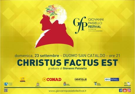 Giovanni Paisiello Festival 2018 - Christus Factus Est