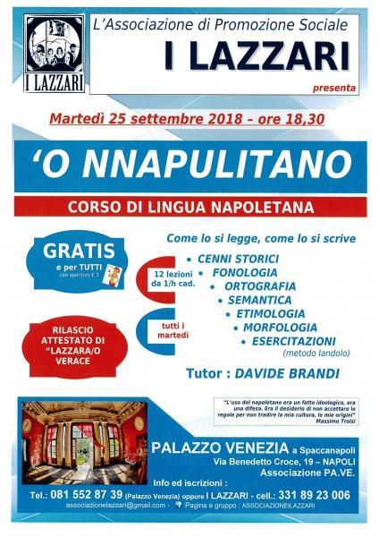 'O Nnapulitano - corso di lingua napoletana