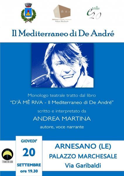 """""""Il Mediterraneo di De André"""" ad Arnesano, Palazzo Marchesale"""