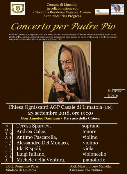Concerto per Padre Pio