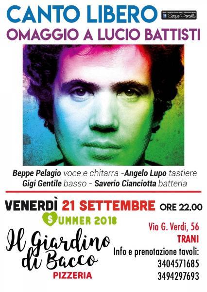 Canto Libero omaggio a Lucio Battisti a Trani