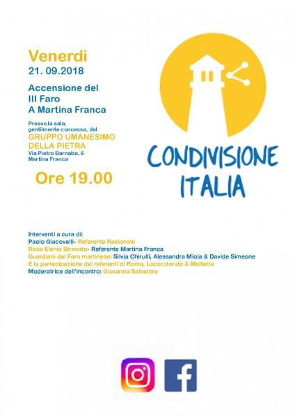 Accensione III Faro di Condivisione Italia