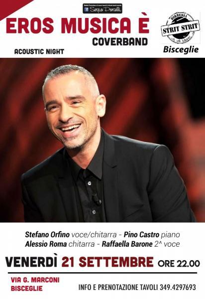 Eros Musica è Coverband acoustic night a Bisceglie!
