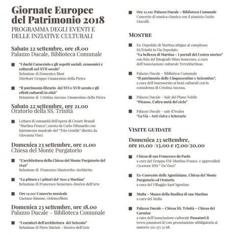 GIORNATE EUROPEE DEL PATRIMONIO 2018: il Seicento