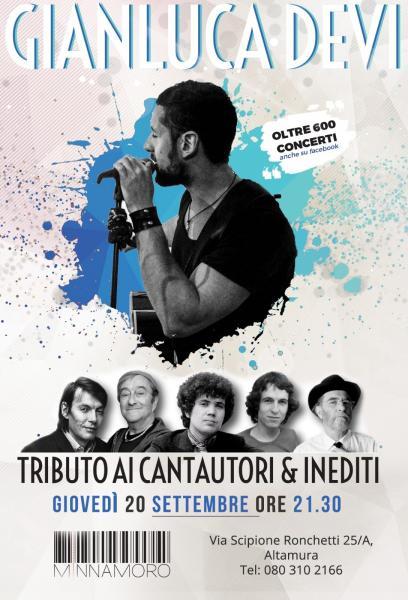 Gianluca Devi - Tributo ai Cantautori Italiani @ Minnamoro Bar (Altamura)