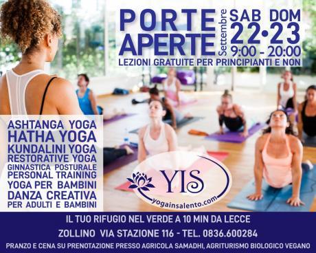 Porte Aperte. Lezioni yoga gratuite per principianti e non