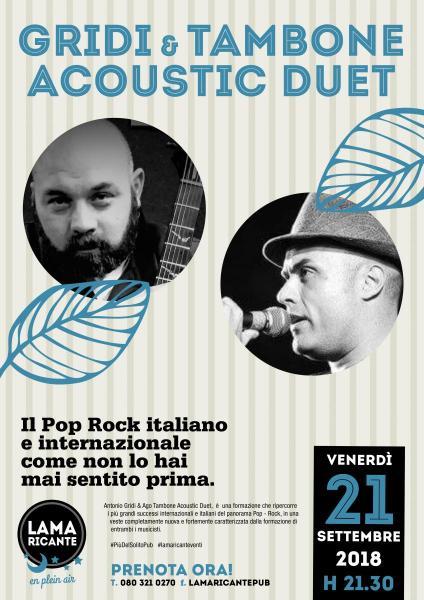 Antonio Gridi e Ago Tambone Acoustic Duo