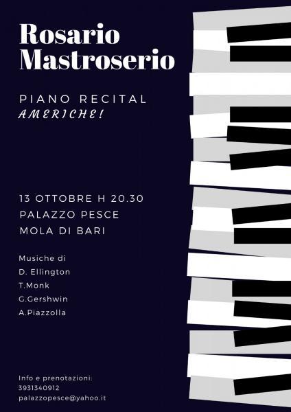 Americhe! Rosario Mastroserio Piano Recital