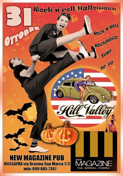 Rock'n'roll Halloween al New Magazine con la Hill Valley band