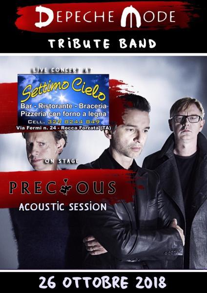 """Live al ristorante settimo cielo con i """"Precious"""" la tribute band dei DEPECHE MODE"""