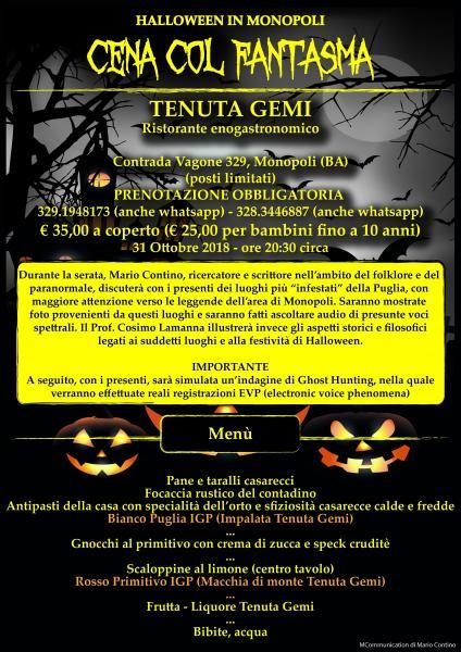 CENA COL FANTASMA (Halloween in Monopoli)