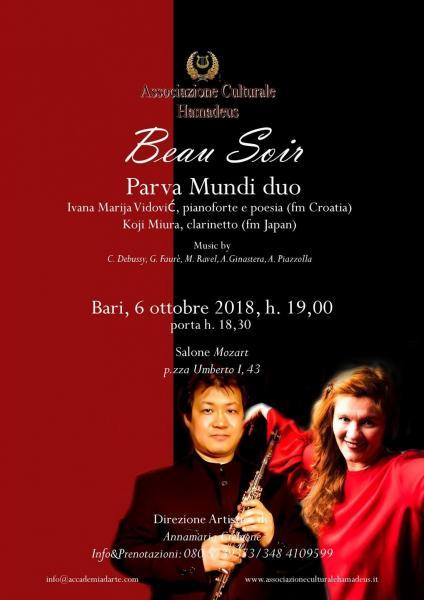 """""""Beau soir"""" concerto per clarinetto e pianoforte"""