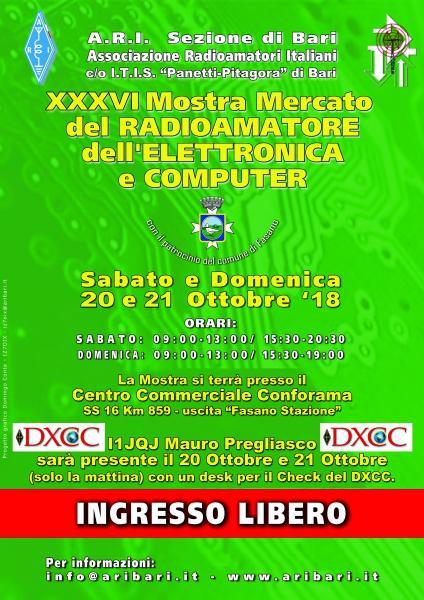 36^Edizione Mostra Mercato del Radioamatore,Elettronica,P.C.