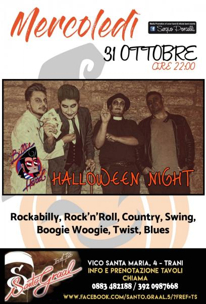 Hallowen night - Billie Hard live - Santo Graal Trani
