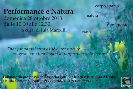 Performance e Natura_passeggiata creativa