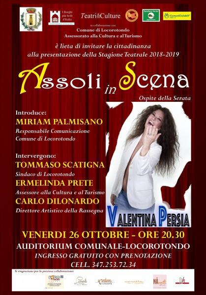 ASSOLI IN SCENA - PRESENTAZIONE STAGIONE TEATRALE|LOCOROTONDO