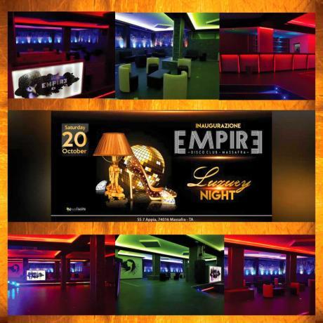 Sabato 20 Ottobre - Inaugurazione *Empire Disco Club* - Massafra