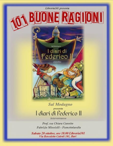 Libreria 101 presenta: 101 BUONE RAGIONI - Incontro con il fumettista Sal Modugno
