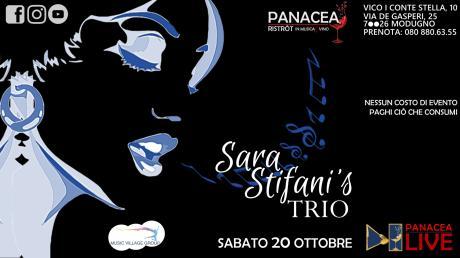 Sara Stifani's trio - Sabato 20 ottobre | PanaceaLIVE