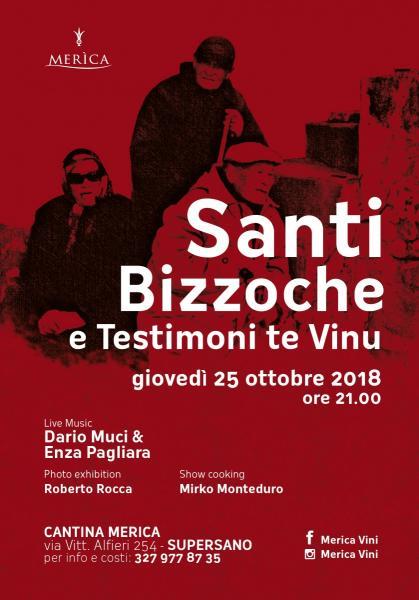 Santi, Bizzoche e Testimoni  te Vinu _rassegna in cantina_giovedì 25 ottobre ore 20.00