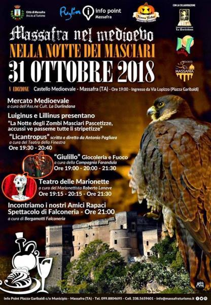 """""""Massafra nel medioevo. La notte dei masciari e la magia dei luoghi di Puglia."""""""