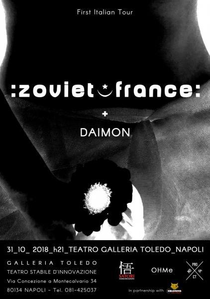 ZOVIET FRANCE live al Teatro Galleria Toledo di Napoli