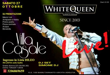 Live WHITE QUEEN + Djset