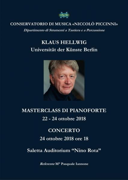 KLAUS HELLWIG - CONCERTO E MASTERCLASS