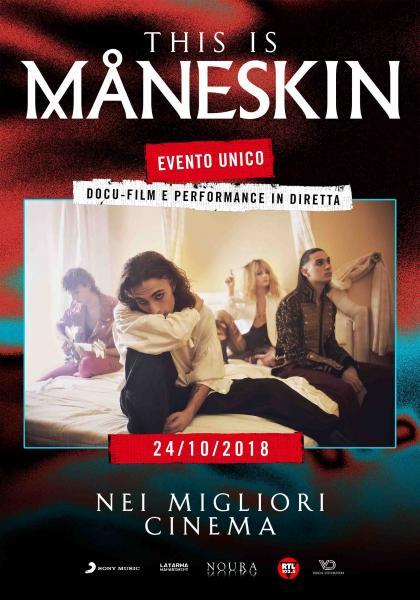 THIS IS MANESKIN Il docu-film sulla band rivelazione di X-Factor al VIGNOLA in esclusiva il 24 ottobre