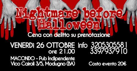 Nightmare before Halloween - Cena con delitto