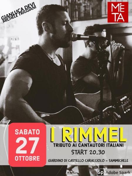 I Rimmel - Tributo ai cantautori italiani @ Castello Caracciolo (Sammichele)