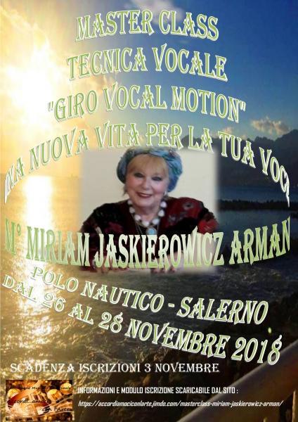 Masterclass Maestro Miriam Jaskierowicz Arman