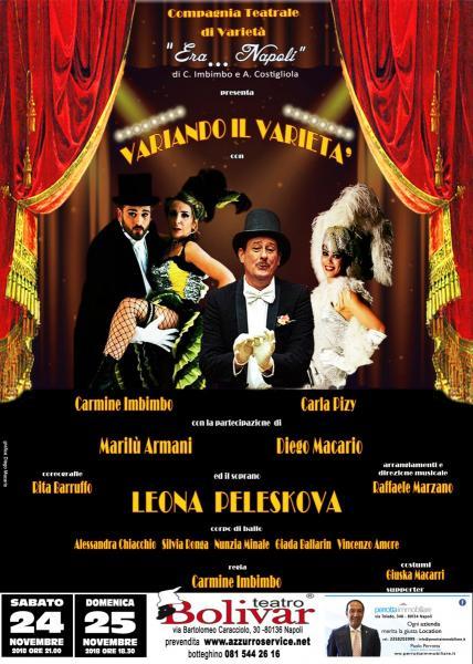 Spettacolo Variando il Varietà in scena al teatro Bolivar