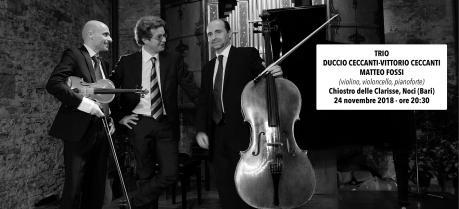 TRIO Duccio Ceccanti (violino) - Vittorio Ceccanti (violoncello) - Matteo Fossi (pianoforte)