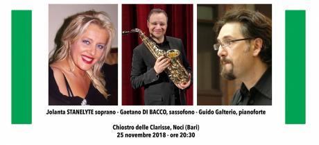 TRIO Jolanta Stanelyte, soprano - Gaetano Di Bacco, sassofono - Guido Galterio, pianoforte