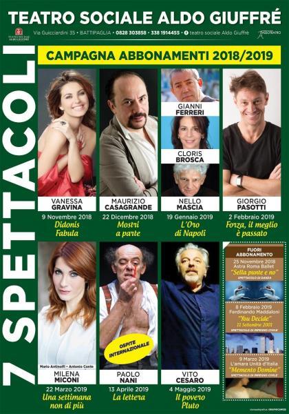 Teatro Sociale Aldo Giuffrè Stagione teatrale 2018/2019