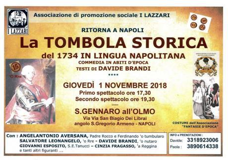 Tombola storica del 1734 in abiti d'epoca e lingua napoletana