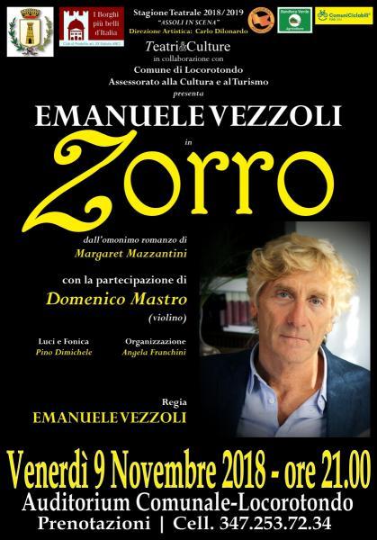 EMANUELE VEZZOLI in ZORRO di M.Mazzantini