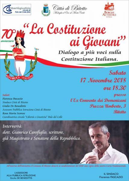 Gianrico Carofiglio: La Costituzione ai Giovani.