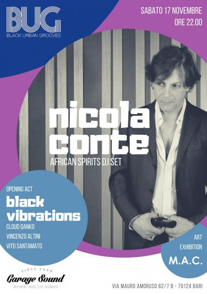 Nicola Conte dj set • Black Vibrations opening act • BUG