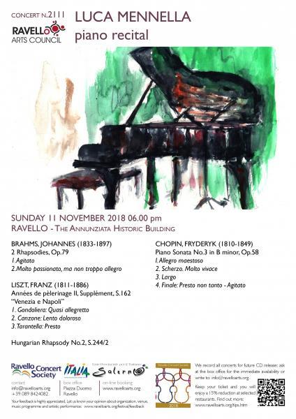 Tea Time Concert 2: Luca Mennella pianoforte